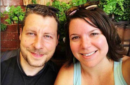 Ellen Hamilton Latzen clicking selfie with her boyfriend Dave
