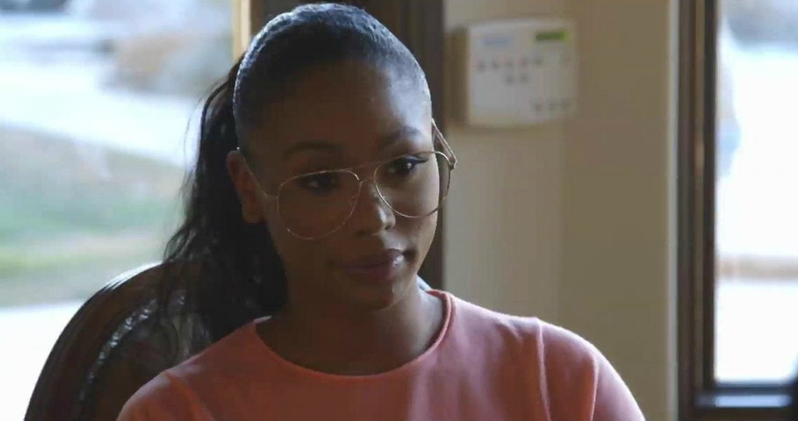 Tytyana Miller acting in the movie