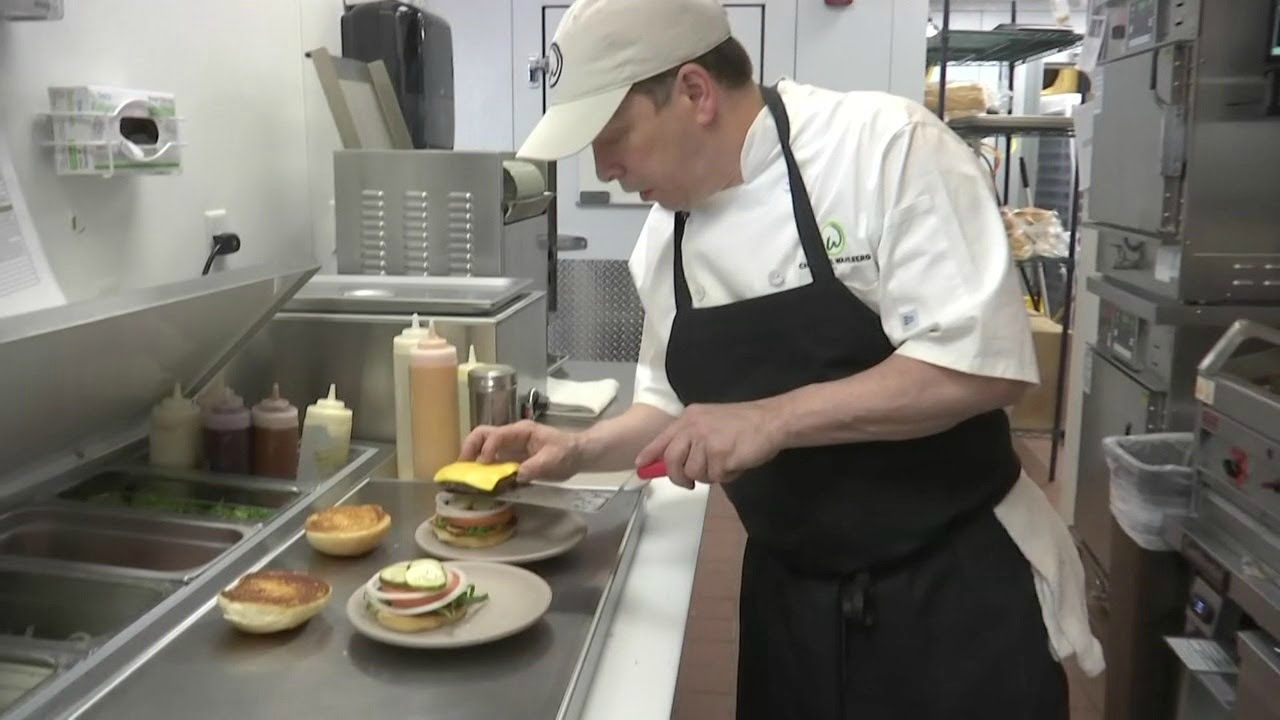 Paul Wahlberg preparing a food
