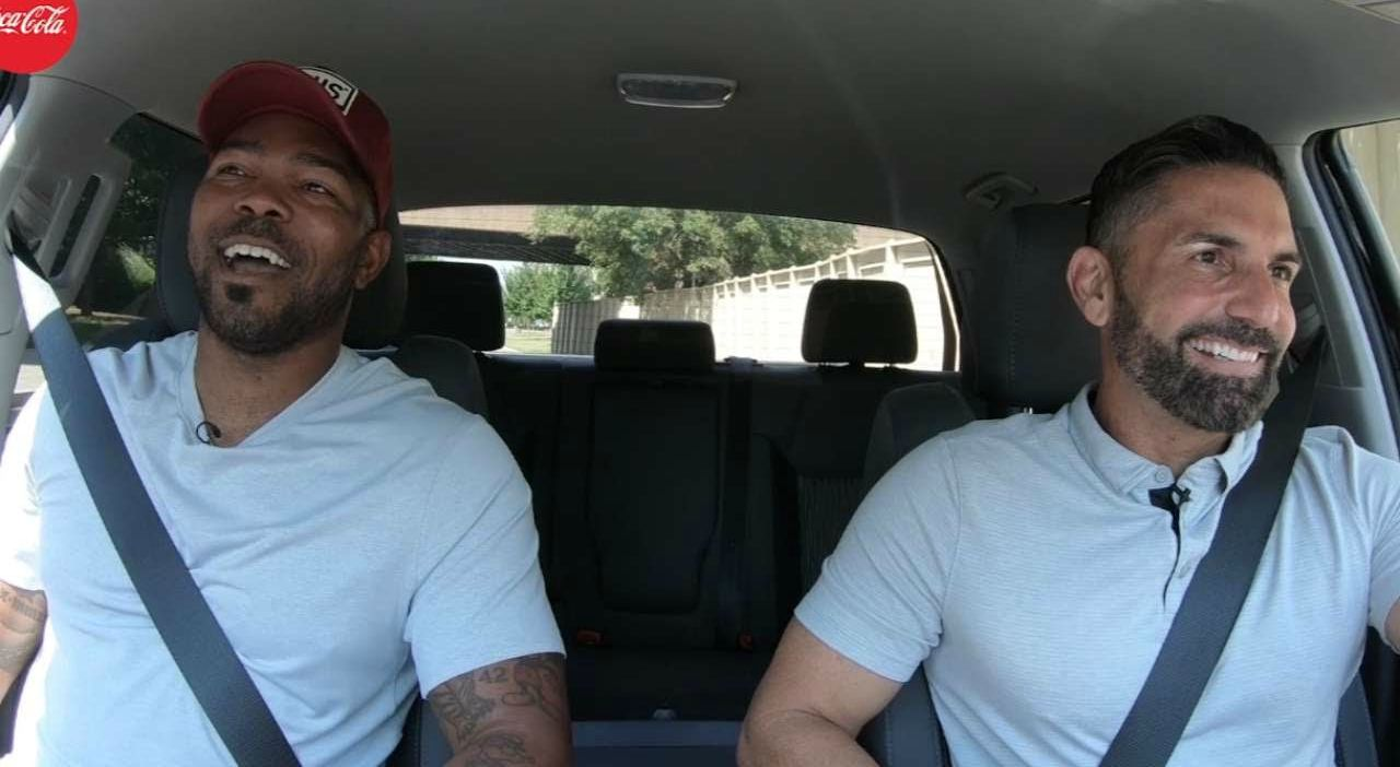 Howie Kendrick travelling in car with his friend
