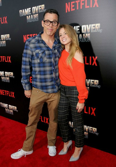 Candy Jane Tucker's ex-husband Steve-O with his current fiancee Lux Wright
