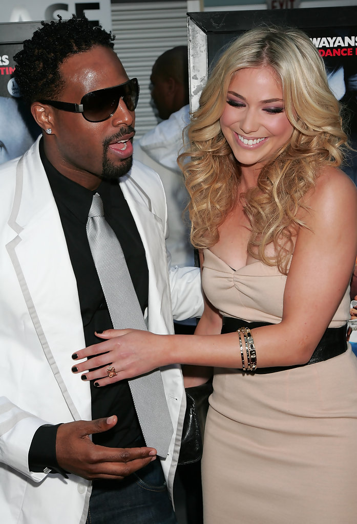 """Shawn Wayans with his co-actor Shoshana Bush attend the premiere of Paramount Pictures' """"Dance Flick"""" at ArcLight Cinemas on May 20, 2009 in Hollywood, California"""
