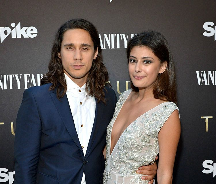 """Actor Peter Gadiot (L) and actress Sibylla Deen as Vanity Fair and Spike celebrate the premiere of the new series """"TUT"""" at Chateau Marmont on July 8, 2015, in Los Angeles, California"""