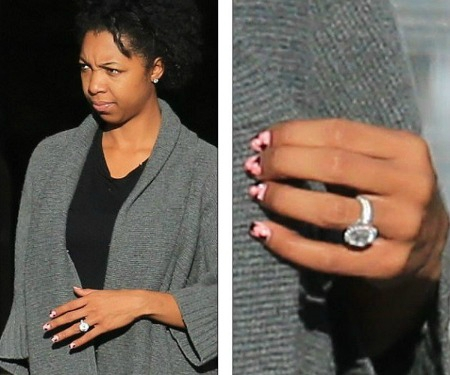 Sharina Hudson spotted with engagement ring