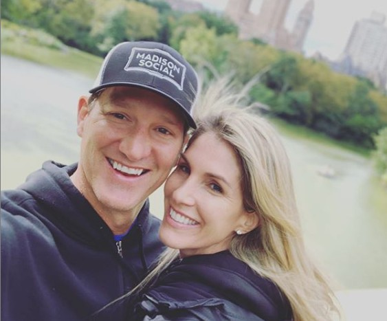 Danny Kanell clicking selfie with his wife Courtenay