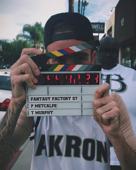 Chris Pfaff working in the movie