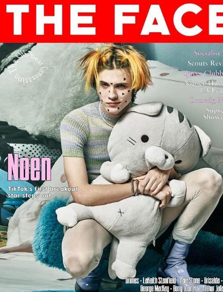 Noen Eubanks posing for a photo in a magazine