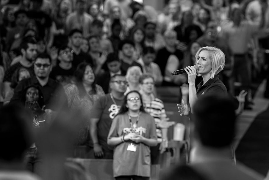 Jill Swaggart working as a pastor