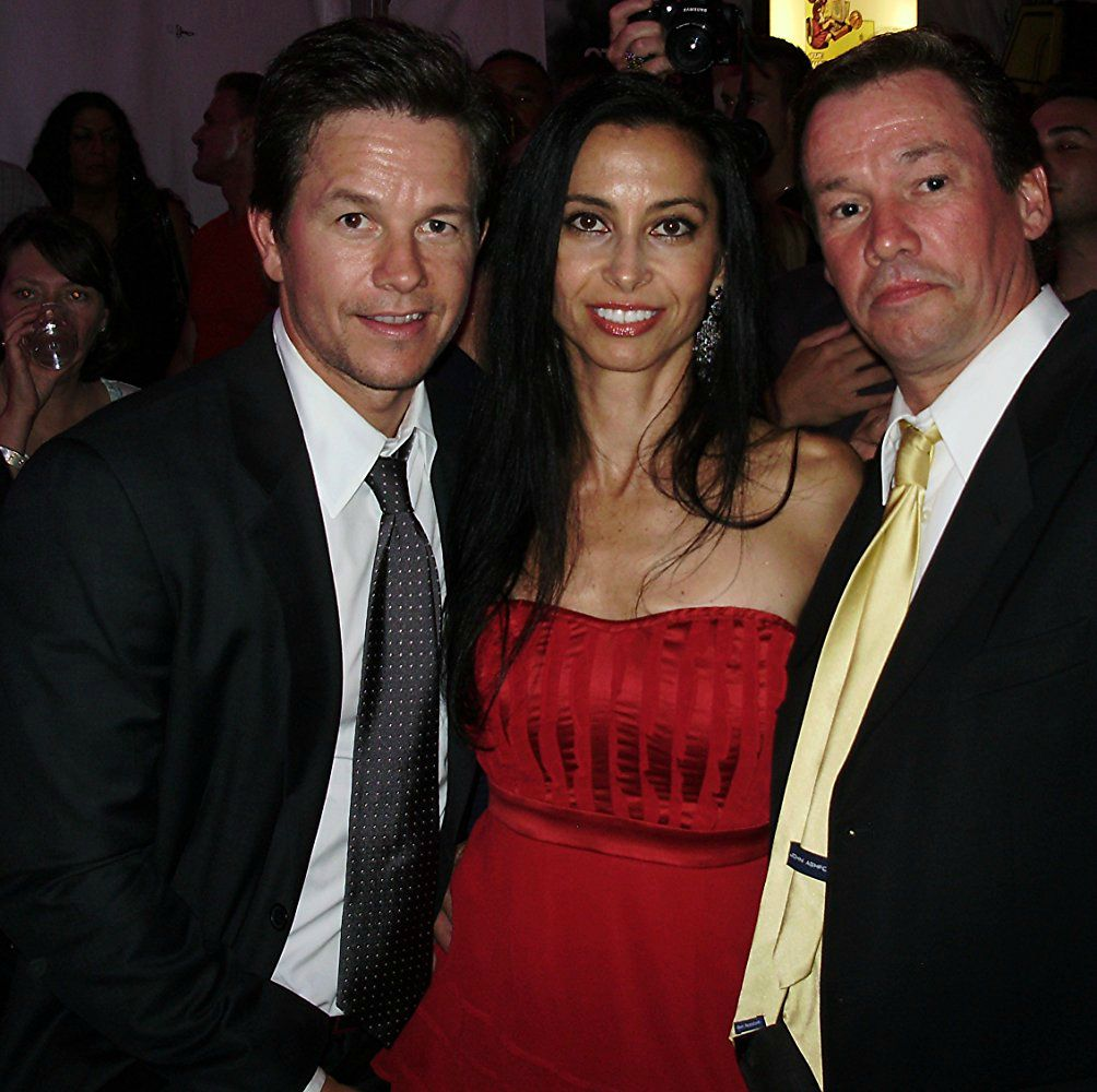 Arthur Wahlberg with his girlfriend with his brother Mark