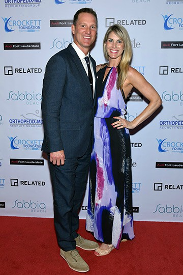 Danny Kanell clicking picture with his wife Courtenay