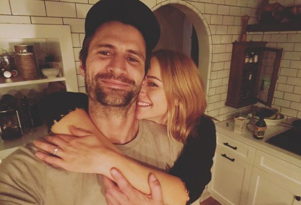 James Lafferty clicking picture with his fiance Alexandra