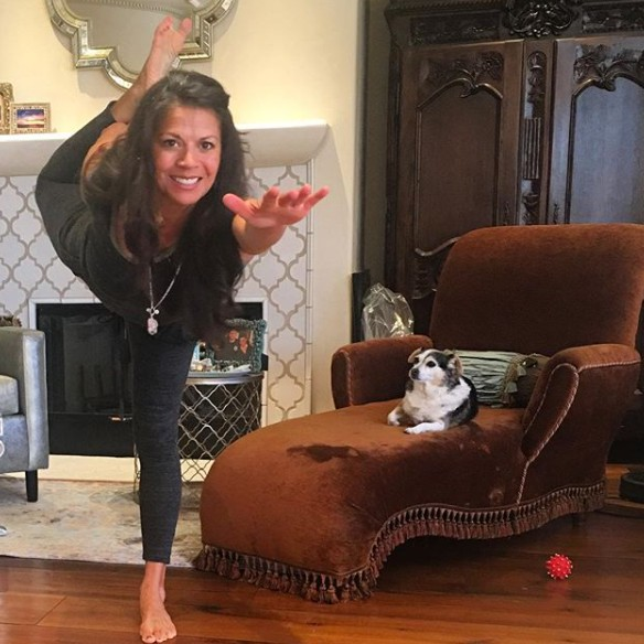 Dina Eastwood doing exercise