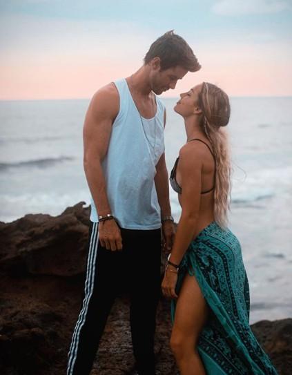 Charly Jordan with her boyfriend Robert Graham