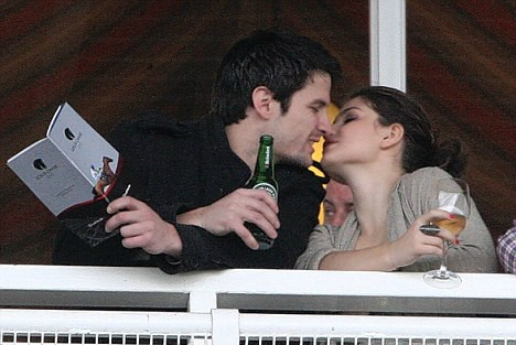 James Lafferty trying to kiss his ex-girlfriend Eve Hewson