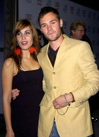 Carly Pope with her ex-boyfriend Patrick John Flueger