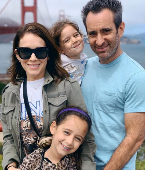 Marla Sokoloff with her husband and their kids