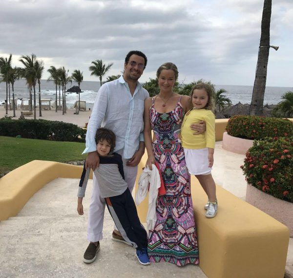 Bobby Ghassemieh with his wife and their kids