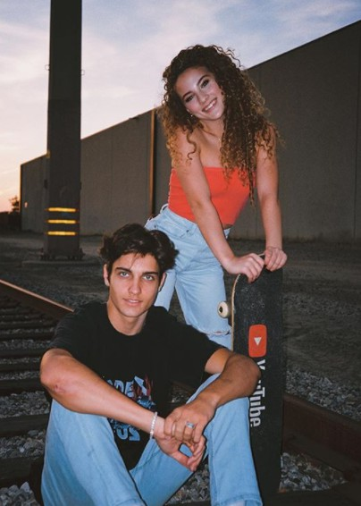 Dom Brack with his female friend