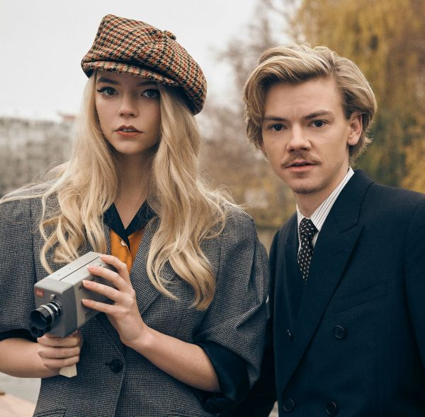 Thomas Brodie-Sangster posing for a photo with his co-actor