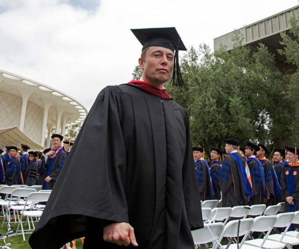 Elon Musk's graduation picture