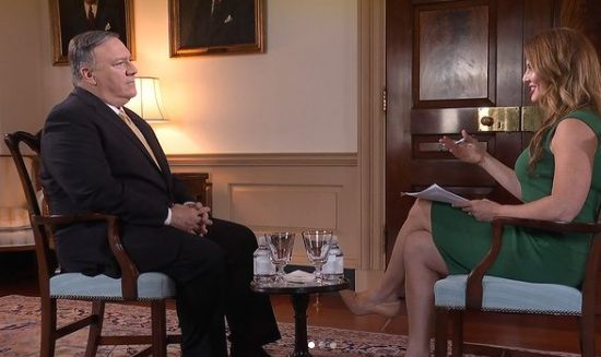 Emerald interviewing Secretary Pompeo