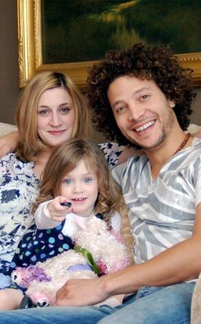 Guarini with his wife and daughter