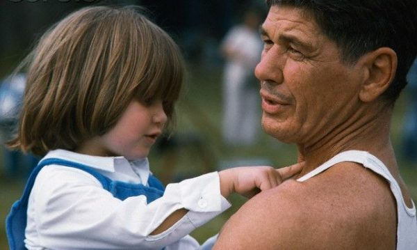 Caption : Zuleika Bronson's childhood photo with her Late father Charles Bronson