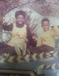 Rickey Smiley's childhood photo with his friends