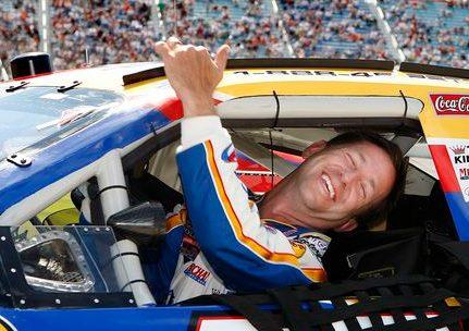 John Andretti inside his car