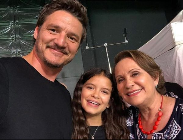 Adriana Barraza with her husband and beautiful wife