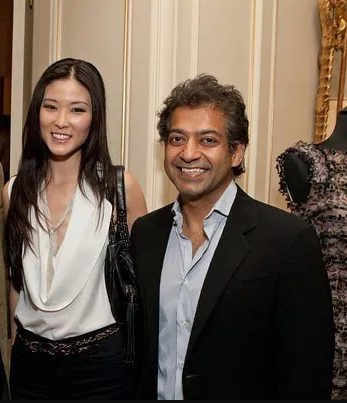 Naval Ravikant with his wife Krystle Cho