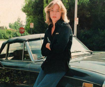 Leif Garrett posing with his car