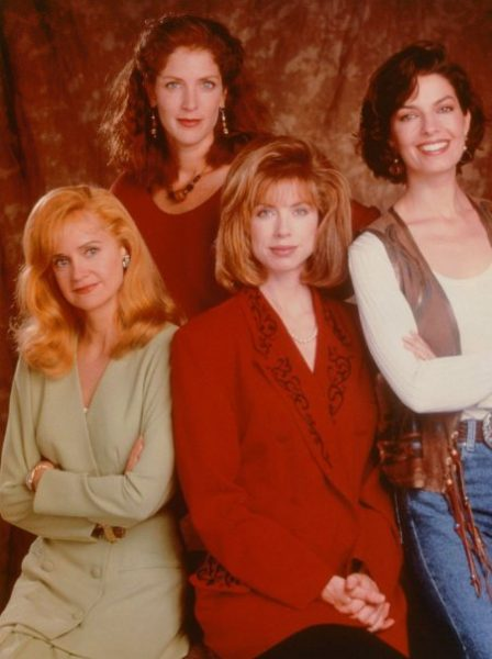 Swoosie Kurtz on the set of Sisters with her co-actors
