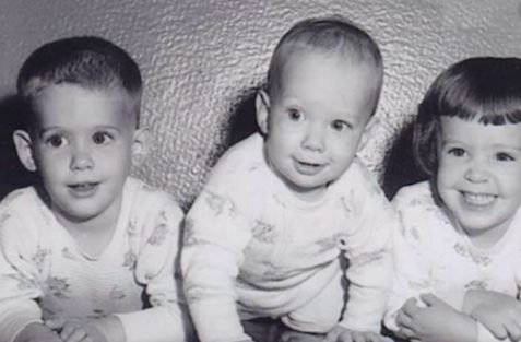 John Andretti childhood photo with his brother and sister