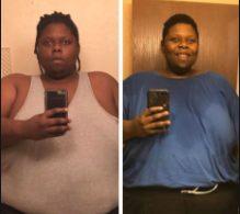 Jumoke Hill weight loss change photo