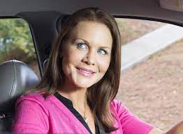 Josie Davis with the car