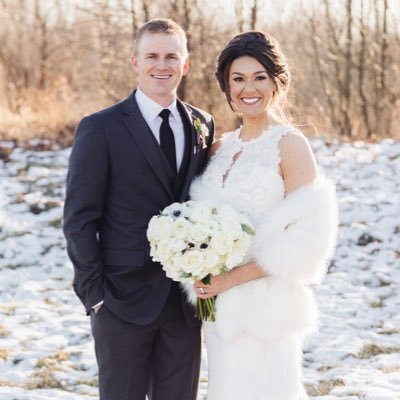 Adam Long with his wife Emily Armstrong