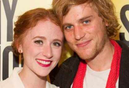 Johnny Flynn with his lovely wife Beatrice Minns