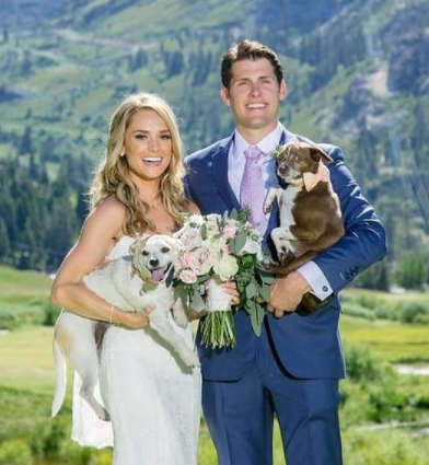 Molly McGrath with her husband Max Dorsch