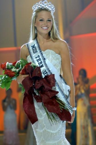 Allie LaForce while winning Miss Teen USA 2005