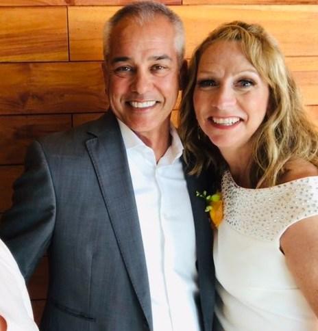 Beth Mowins with her husband, Alan Arrollado