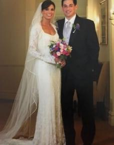 Cindy Bruson with her husband, Steve Berthiaume