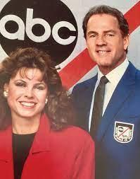 Becky Dixon with her husband Patrick Keegan