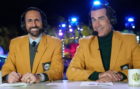 Joe Tessitore with with closest friend, Rob Riggle