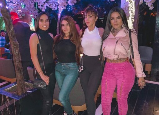 Katherine Flores with her friends