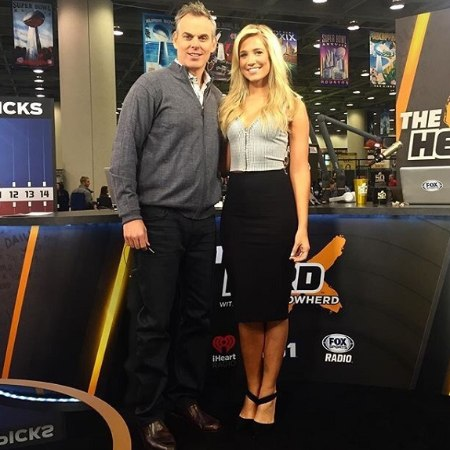 Kristine Leahy with her co-worker, Colin Cowherd