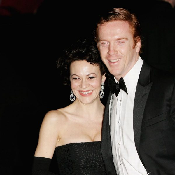 Damian Lewis with his wife Helen McCrory
