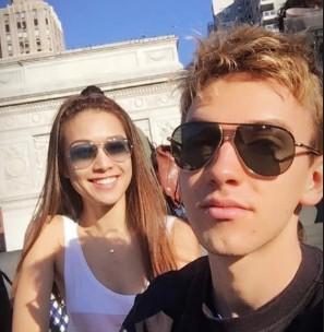 Stephen Sharer with his ex-girlfriend Renata Erickson