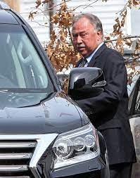 Jerry Remy with the car