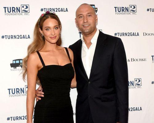 Derek Jeter with his wife Hannah Davis